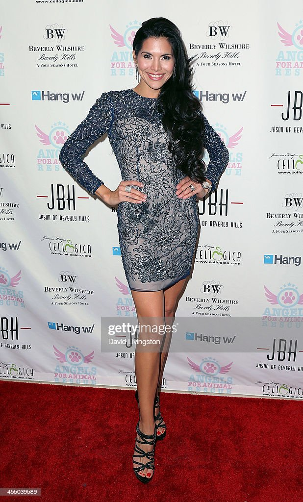 TV personality <a gi-track='captionPersonalityLinkClicked' href=/galleries/search?phrase=Joyce+Giraud&family=editorial&specificpeople=841715 ng-click='$event.stopPropagation()'>Joyce Giraud</a> attends the Angels for Animal Rescue Benefit hosted by Joanna Krupa at the Beverly Wilshire Four Seasons Hotel on December 10, 2013 in Beverly Hills, California.