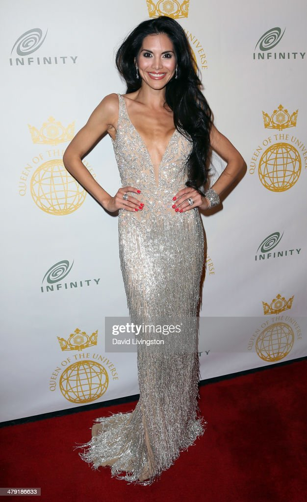 TV personality <a gi-track='captionPersonalityLinkClicked' href=/galleries/search?phrase=Joyce+Giraud&family=editorial&specificpeople=841715 ng-click='$event.stopPropagation()'>Joyce Giraud</a> attends the Queen of the Universe International Beauty Pageant at the Saban Theatre on March 16, 2014 in Beverly Hills, California.