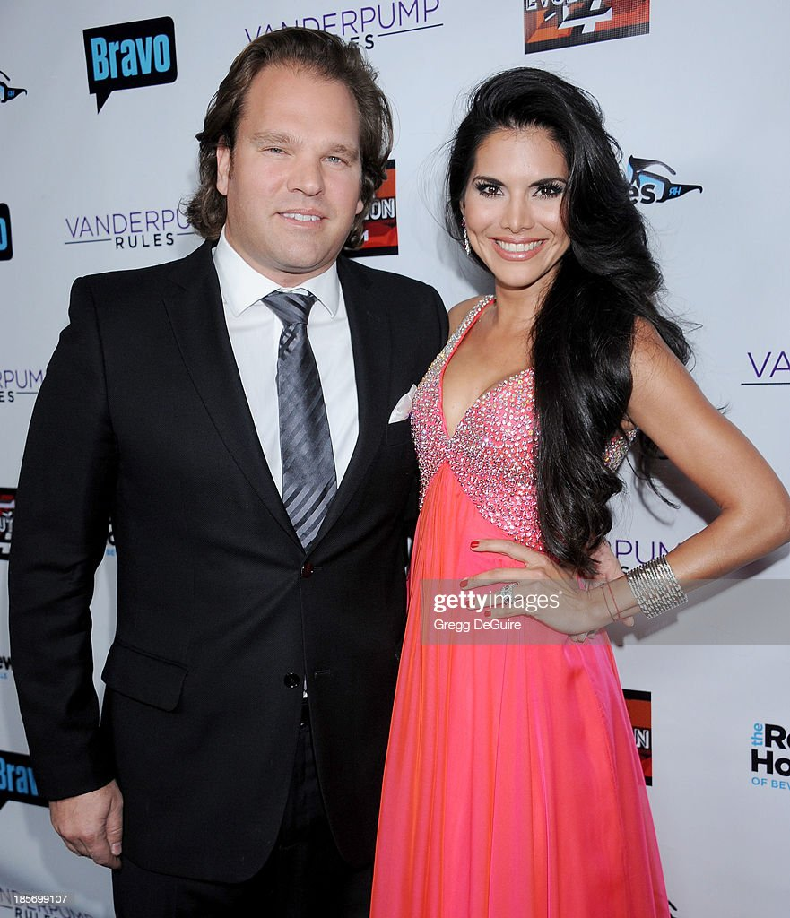 TV personality Joyce Giraud de Ohoven and husband <a gi-track='captionPersonalityLinkClicked' href=/galleries/search?phrase=Michael+Ohoven&family=editorial&specificpeople=722195 ng-click='$event.stopPropagation()'>Michael Ohoven</a> arrive at 'The Real Housewives Of Beverly Hills' And 'Vanderpump Rules' premiere party at Boulevard3 on October 23, 2013 in Hollywood, California.