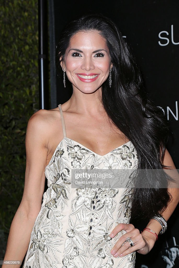 TV personality Joyce Giraud de Ohoven attends Sue Wong's holiday party at her home on December 20, 2013 in Los Angeles, California.