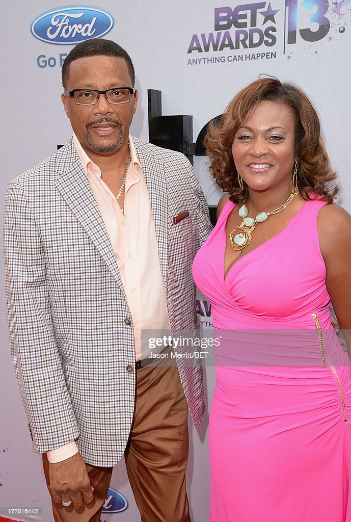 TV Personality Judge Mathis (L) and wife Linda Reese attend the Ford Red Carpet at the 2013 BET Awards at Nokia Theatre L.A. Live on June 30, 2013 in Los Angeles, California.