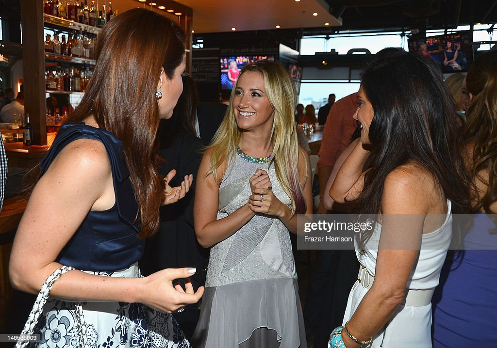 TV Personality Julia Allison, executive producer Ashley Tisdale and TV personality Emily Morse attend the season premiere viewing party of Bravo's 'Miss Advised' hosted by Executive Producer Ashley Tisdale held at Planet Dailies & Mixology 101 on June 18, 2012 in Los Angeles, California.