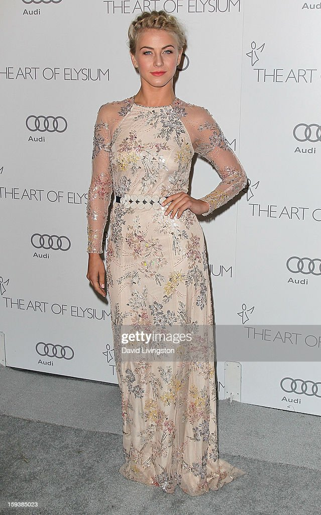 TV personality <a gi-track='captionPersonalityLinkClicked' href=/galleries/search?phrase=Julianne+Hough&family=editorial&specificpeople=4237560 ng-click='$event.stopPropagation()'>Julianne Hough</a> attends the Art of Elysium's 6th Annual Black-tie Gala 'Heaven' at 2nd Street Tunnel on January 12, 2013 in Los Angeles, California.