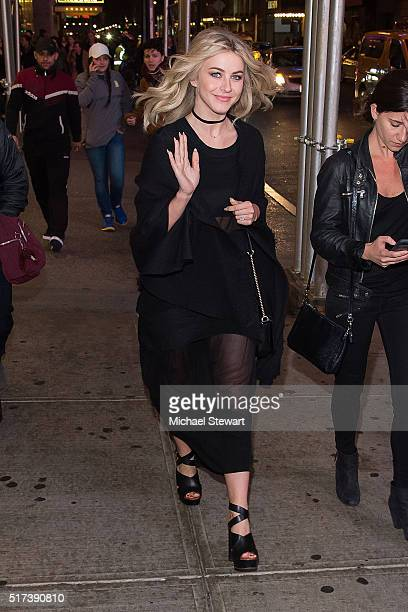 TV personality Julianne Hough is seen in Midtown on March 24 2016 in New York City