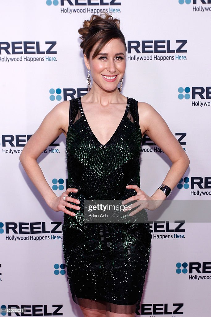 TV personality Julie Alexandria attends the REELZ Channel upfront presentation at Hudson Hotel on April 9, 2014 in New York City.