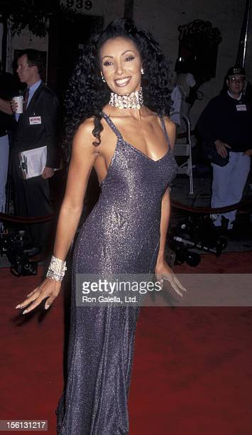 TV Personality Julie Brown attending the premiere of 'Ace VenturaWhen Nature Calls' on November 8 1995 at Mann Village Theater in Westwood California