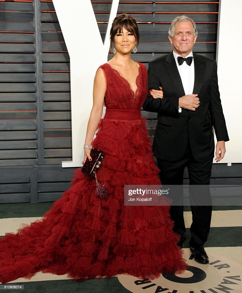 TV personality Julie Chen and CEO of CBS Leslie Moonves attend the 2016 Vanity Fair Oscar Party hosted By Graydon Carter at Wallis Annenberg Center...