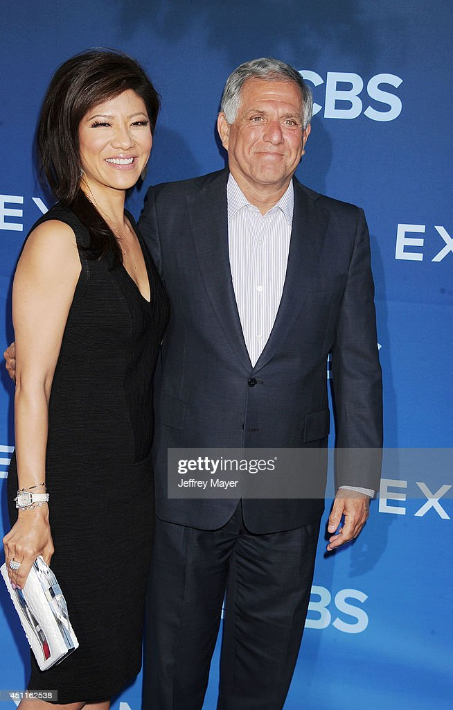 TV personality Julie Chen and President and CEO of CBS Corporation Leslie Moonves attend the Premiere Of CBS Films' 'Extant' at California Science...