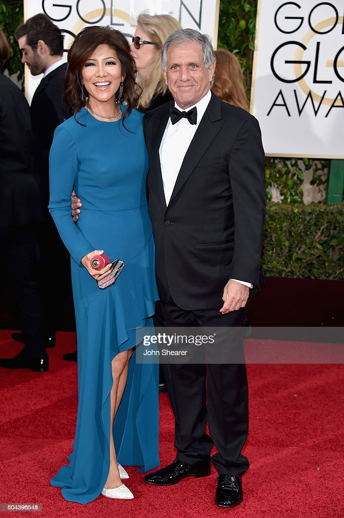 TV personality Julie Chen and President and CEO of CBS Leslie Moonves attend the 73rd Annual Golden Globe Awards held at the Beverly Hilton Hotel on...