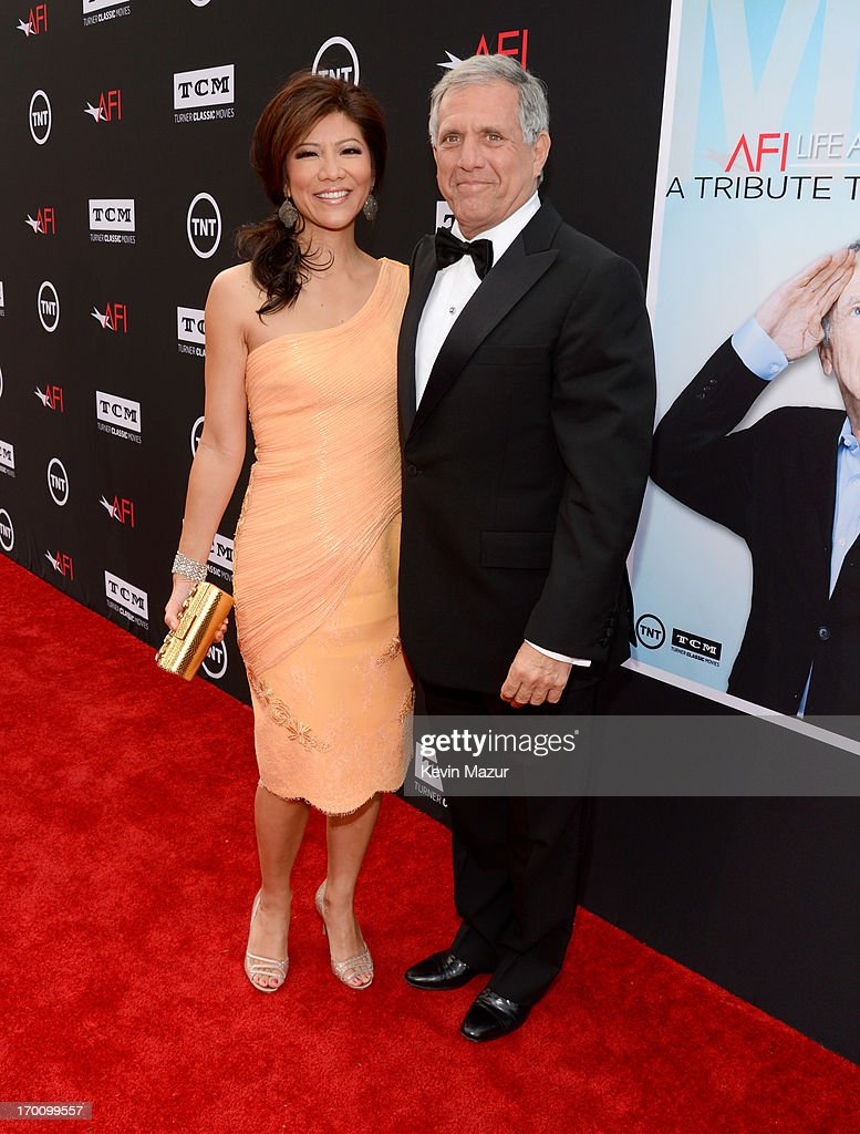 TV Personality Julie Chen and President and Chief Executive Officer of CBS Corporation Les Moonves attend AFI's 41st Life Achievement Award Tribute to Mel Brooks at Dolby Theatre on June 6, 2013 in Hollywood, California. 23647_004_KM_0498.JPG