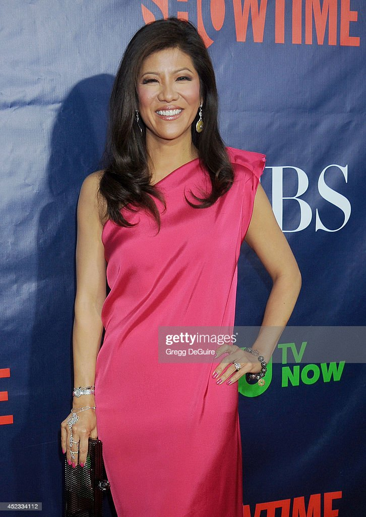 TV personality <a gi-track='captionPersonalityLinkClicked' href=/galleries/search?phrase=Julie+Chen&family=editorial&specificpeople=206213 ng-click='$event.stopPropagation()'>Julie Chen</a> arrives at the 2014 Television Critics Association Summer Press Tour - CBS, CW And Showtime Party at Pacific Design Center on July 17, 2014 in West Hollywood, California.