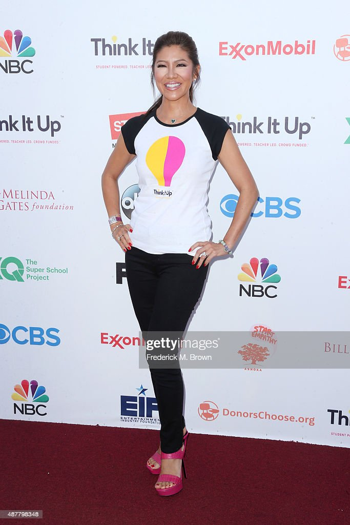 TV personality <a gi-track='captionPersonalityLinkClicked' href=/galleries/search?phrase=Julie+Chen&family=editorial&specificpeople=206213 ng-click='$event.stopPropagation()'>Julie Chen</a> attends the Think It Up education initiative telecast for teachers and students, hosted by Entertainment Industry Foundation at Barker Hangar on September 11, 2015 in Santa Monica, California.