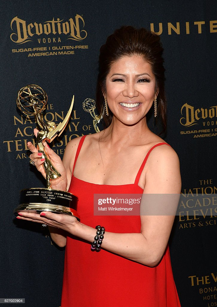 TV personality <a gi-track='captionPersonalityLinkClicked' href=/galleries/search?phrase=Julie+Chen&family=editorial&specificpeople=206213 ng-click='$event.stopPropagation()'>Julie Chen</a> poses in the press room at the 43rd Annual Daytime Emmy Awards at the Westin Bonaventure Hotel on May 1, 2016 in Los Angeles, California.