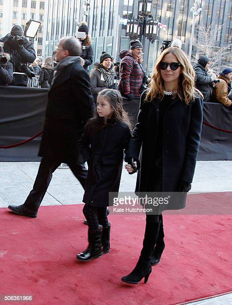 TV personality Julie Snyder attends the State Funeral Service for Celine Dion's Husband Rene Angelil at NotreDame Basilica on January 22 2016 in...