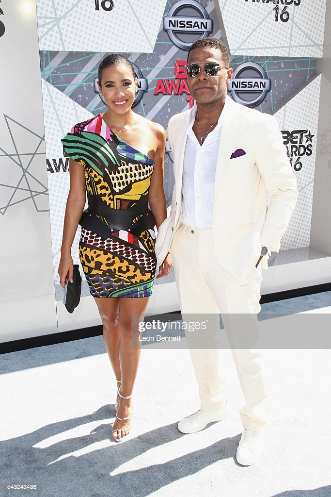 TV personality <a gi-track='captionPersonalityLinkClicked' href=/galleries/search?phrase=Julissa+Bermudez&family=editorial&specificpeople=778932 ng-click='$event.stopPropagation()'>Julissa Bermudez</a> and Singer Maxwell (R) attend the 2016 BET Awards at the Microsoft Theater on June 26, 2016 in Los Angeles, California.