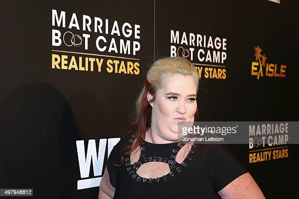 TV personality June 'Mama June' Shannon attends the WE tv premiere of 'Marriage Boot Camp' Reality Stars and 'Exisled' on November 19 2015 in Los...