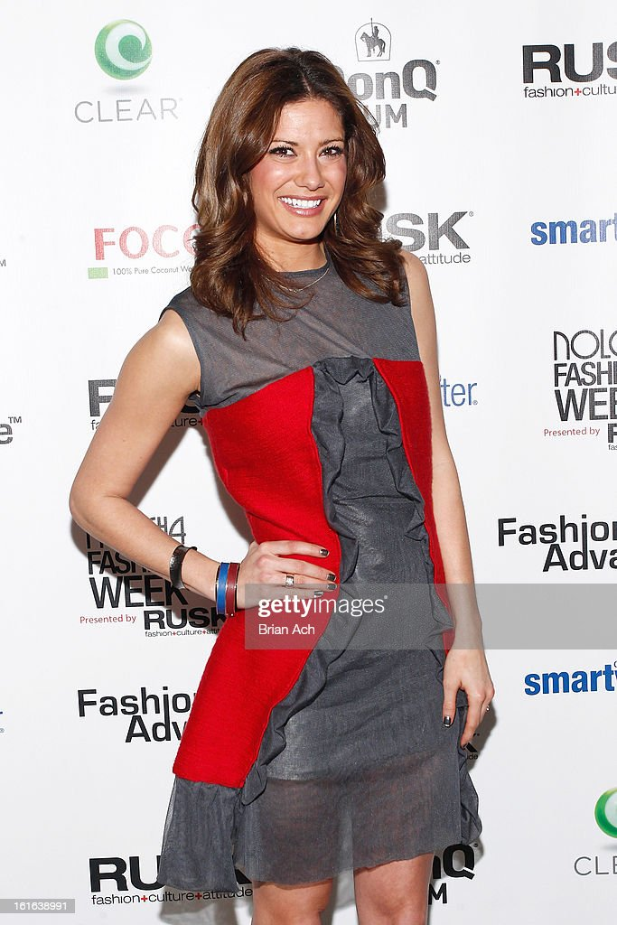 TV personality Kacie Boguskie attends Nolcha Fashion Week New York 2013 presented by RUSK at Pier 59 Studios on February 13, 2013 in New York City.