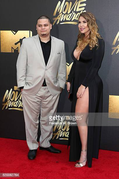 TV personality Kailyn Lowry and Jo Rivera attend the 2016 MTV Movie Awards at Warner Bros Studios on April 9 2016 in Burbank California MTV Movie...