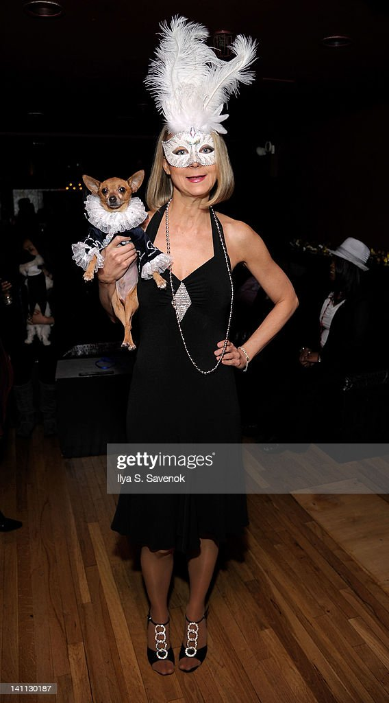 TV personality <a gi-track='captionPersonalityLinkClicked' href=/galleries/search?phrase=Karen+Biehl&family=editorial&specificpeople=5330953 ng-click='$event.stopPropagation()'>Karen Biehl</a> attends Celebrity Catwalk: Mardi Paws Back In Black at Shadow on March 10, 2012 in New York City.