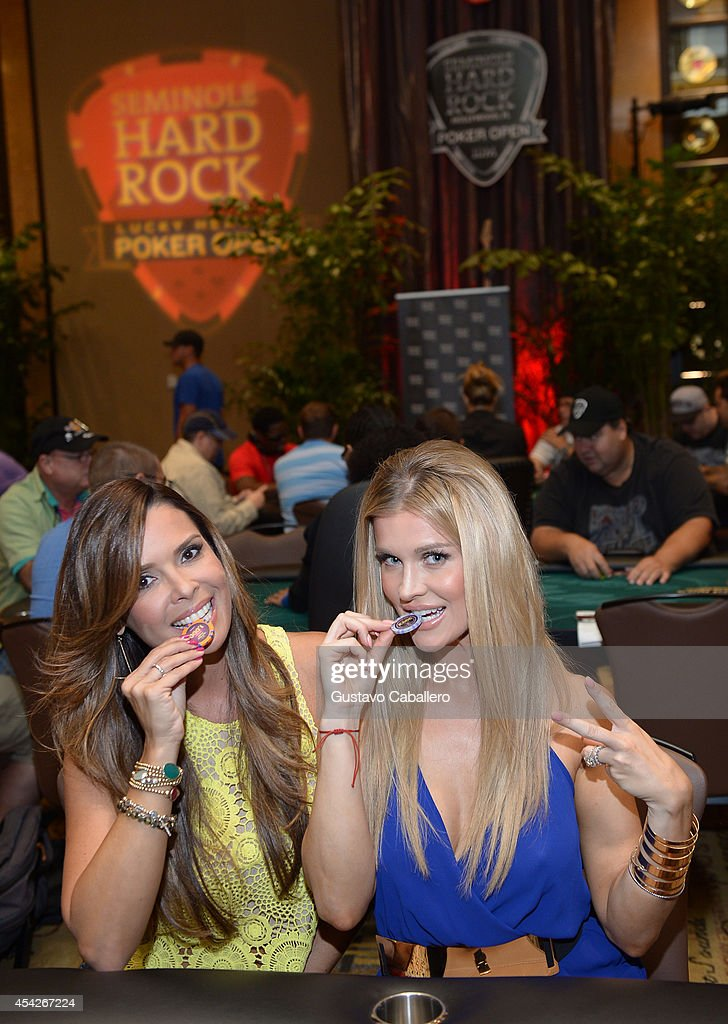 TV Personality Karent Sierra and Joanna Krupa attend the Hollywood Charity Series Of Poker Supported By PokerStars To Benefit Habitat For Humanity at Seminole Hard Rock Hotel & Casino & Hard Rock Cafe Hollywood on August 27, 2014 in Hollywood, Florida.