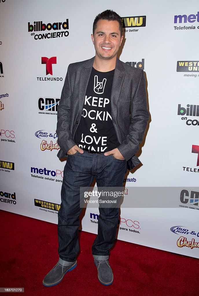TV personality Karim Mendiburu attends Billboard In Concert Series presents Calibre 50 at The Conga Room at The Conga Room at L.A. Live on October 8, 2013 in Los Angeles, California.