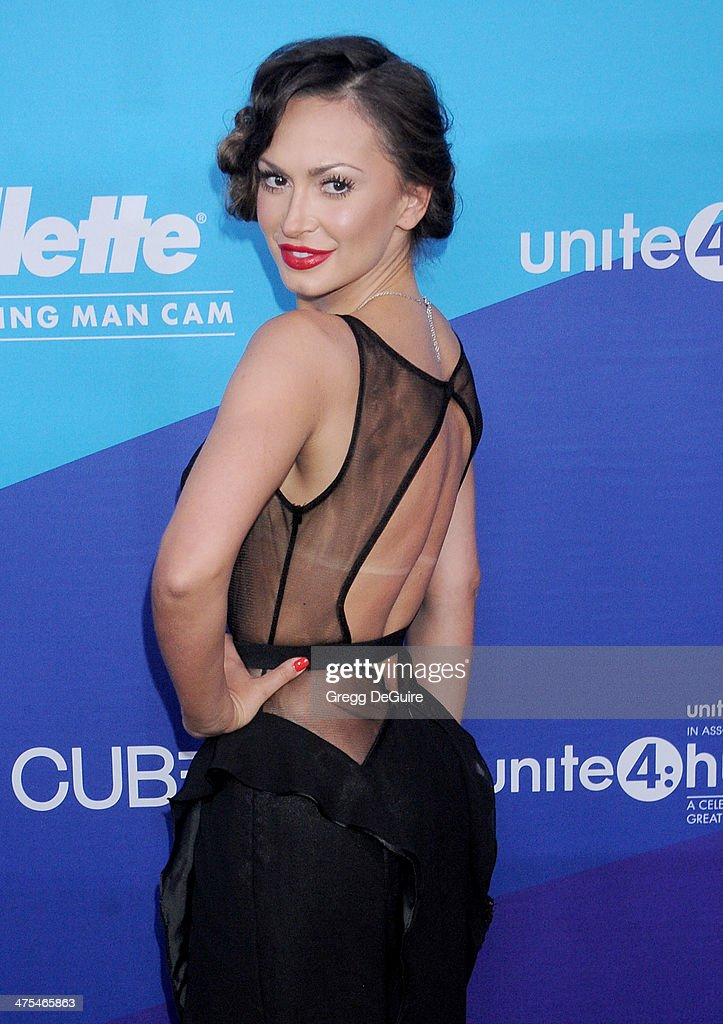 TV personality Karina Smirnoff arrives at the 1st Annual Unite4:humanity event hosted by Unite4good and Variety at Sony Studios on February 27, 2014 in Los Angeles, California.