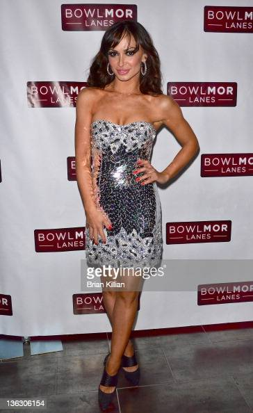 TV personality Karina Smirnoff attends Joonbug's End of the Year Bash 2012 with Karina Smirnoff at Bowlmor Lanes Times Square on December 31 2011 in...