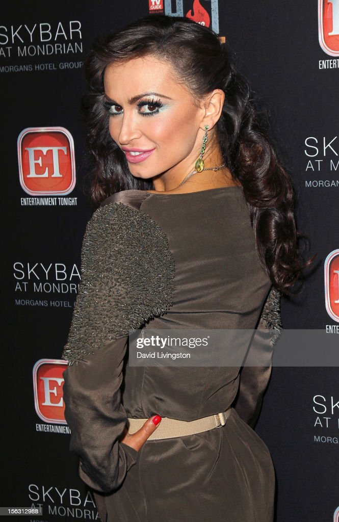 TV personality Karina Smirnoff attends TV Guide Magazine's 2012 Hot List Party at SkyBar at the Mondrian Los Angeles on November 12, 2012 in West Hollywood, California.