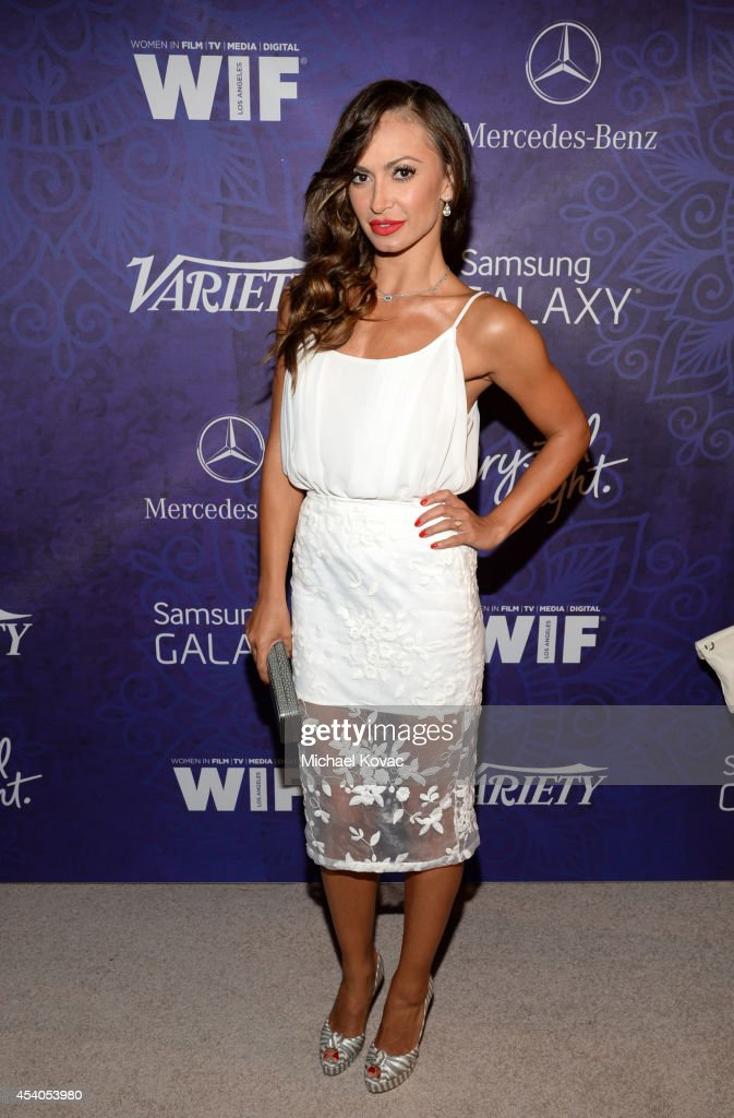 TV personality <a gi-track='captionPersonalityLinkClicked' href=/galleries/search?phrase=Karina+Smirnoff&family=editorial&specificpeople=4029232 ng-click='$event.stopPropagation()'>Karina Smirnoff</a> attends Variety and Women in Film Emmy Nominee Celebration powered by Samsung Galaxy on August 23, 2014 in West Hollywood, California.