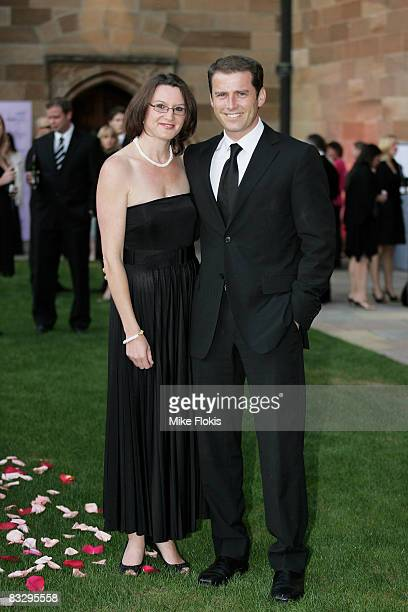 Personality Karl Stefanovic and wife Cassandra Thorburn attend the Sydney Global Illumination Gala Dinner 2008 in support of the National Breast...