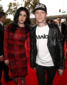 TV personality Kat Von D and DJ Deadmau5 attend the 55th Annual GRAMMY Awards at STAPLES Center on February 10 2013 in Los Angeles California