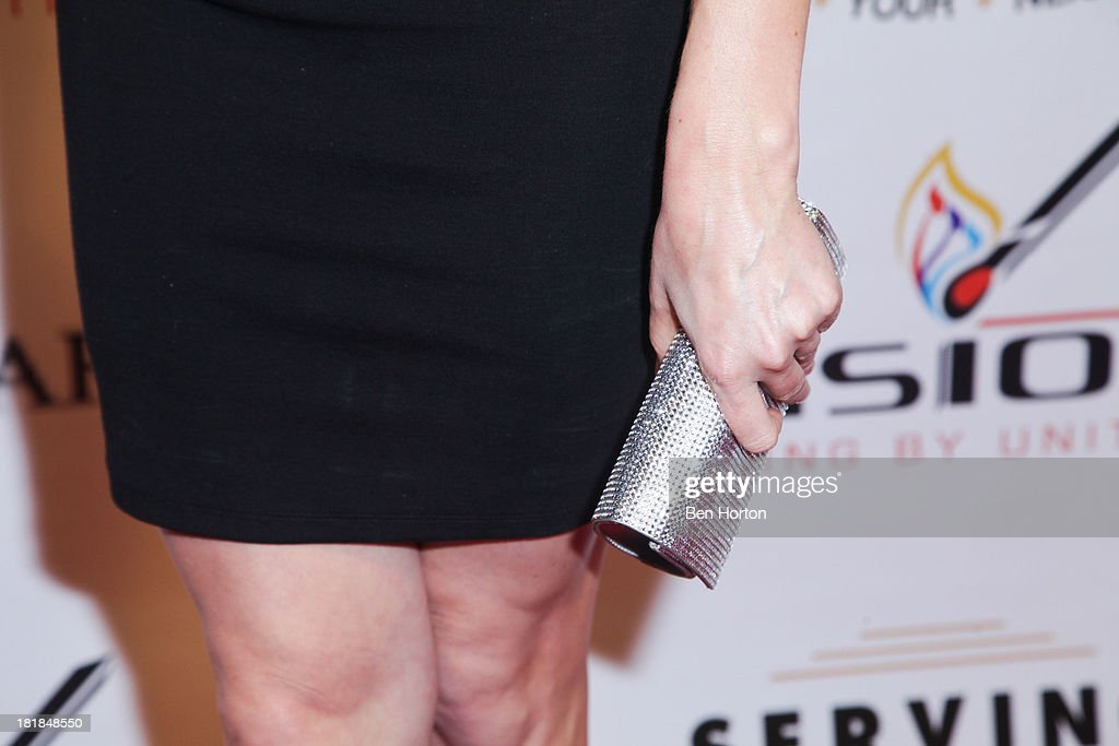 TV personality Katherine Bailess (clutch detail) attends the Guggenheim partners present: The Justice Ball at Boulevard3 on September 24, 2013 in Hollywood, California.