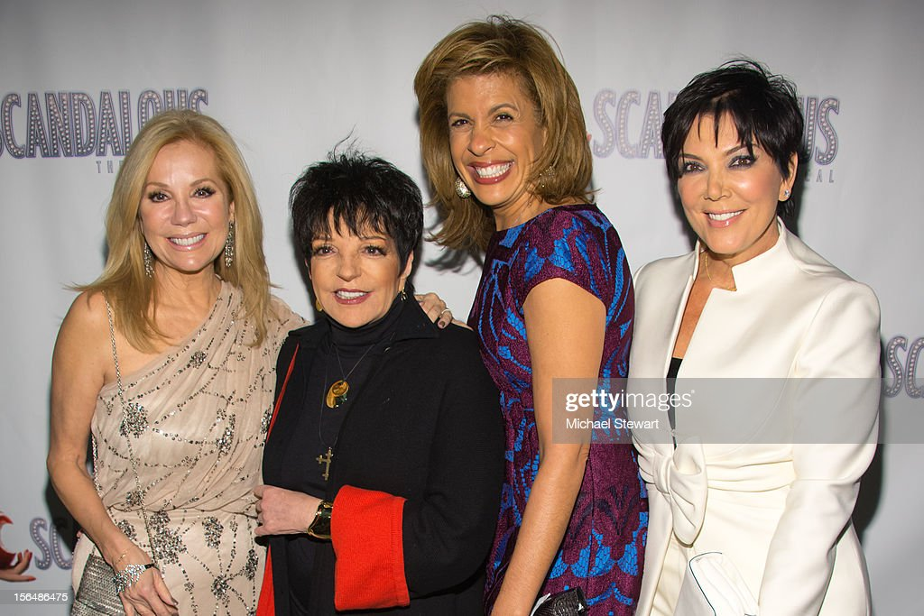 TV personality Kathie Lee Gifford, musician Liza Minnelli, tv personality Hoda Kotb and tv personality Kris Jenner attend the 'Scandalous' Broadway Opening Night' at Neil Simon Theatre on November 15, 2012 in New York City.