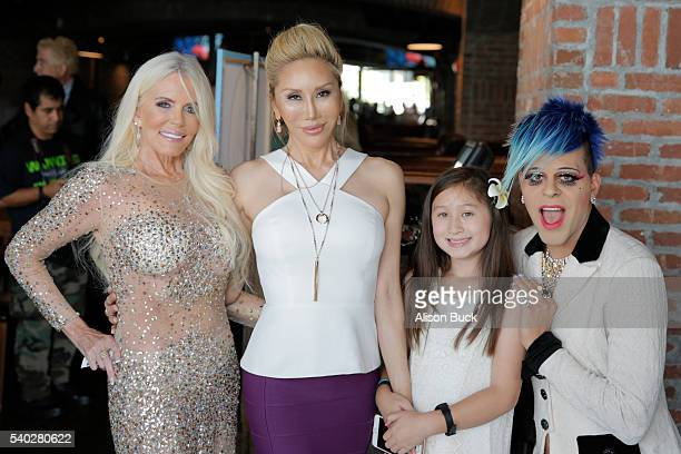 TV personality Kathy Brown TV personality Tess Broussard actress Ava Goldsmith and artist/TV personality Sham Ibrahim attend the preview party for...