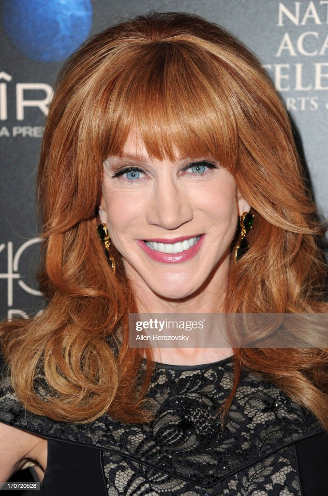 TV personality <a gi-track='captionPersonalityLinkClicked' href=/galleries/search?phrase=Kathy+Griffin&family=editorial&specificpeople=203161 ng-click='$event.stopPropagation()'>Kathy Griffin</a> attends 40th Annual Daytime Entertaimment Emmy Awards - Arrivals at The Beverly Hilton Hotel on June 16, 2013 in Beverly Hills, California.