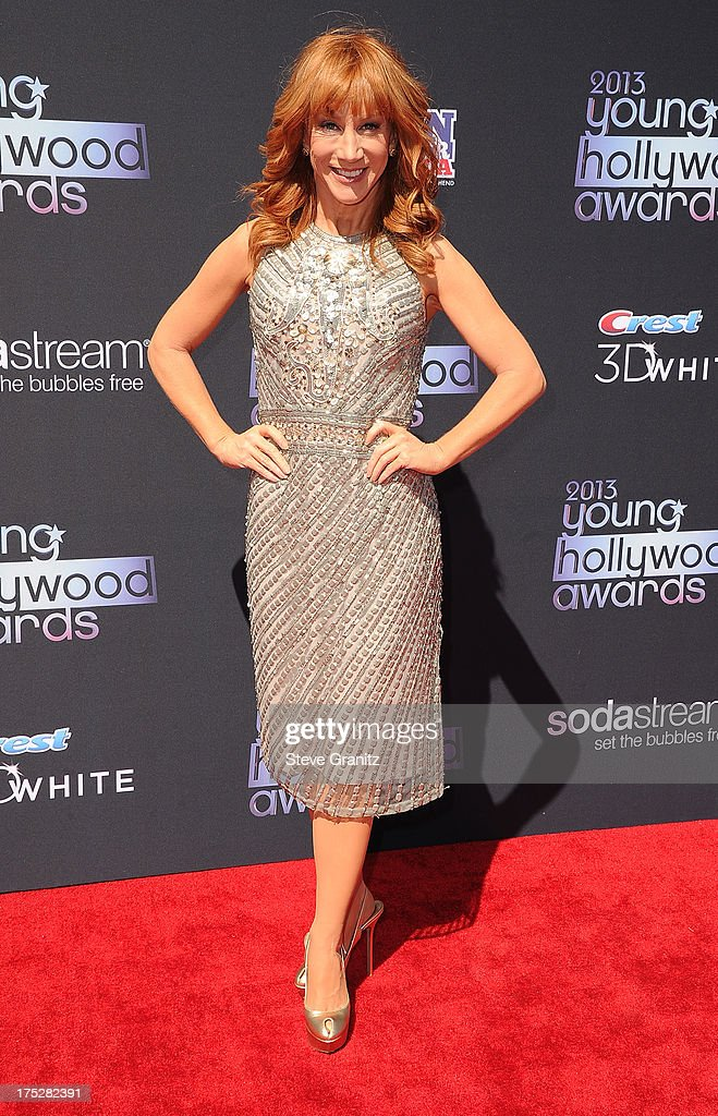 TV personality Kathy Griffin attends CW Network's 2013 Young Hollywood Awards presented by Crest 3D White and SodaStream held at The Broad Stage on August 1, 2013 in Santa Monica, California.