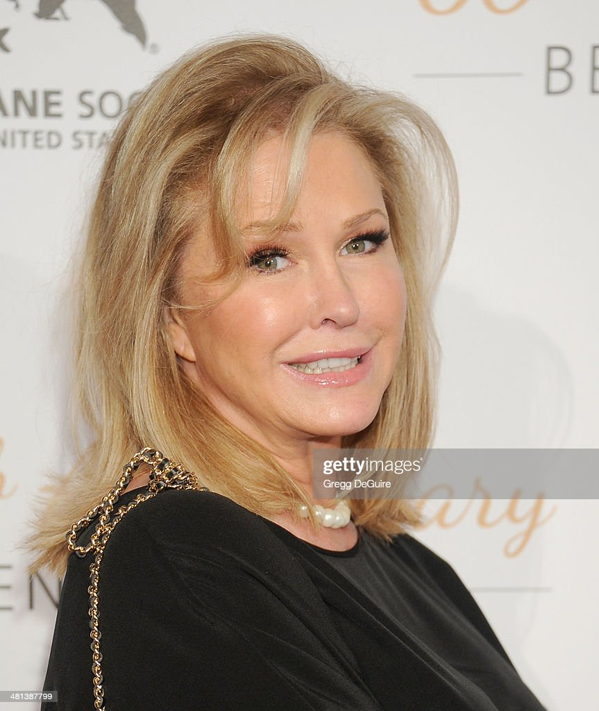 TV personality Kathy Hilton arrives at The Humane Society Of The United States 60th anniversary benefit gala at The Beverly Hilton Hotel on March 29, 2014 in Beverly Hills, California.