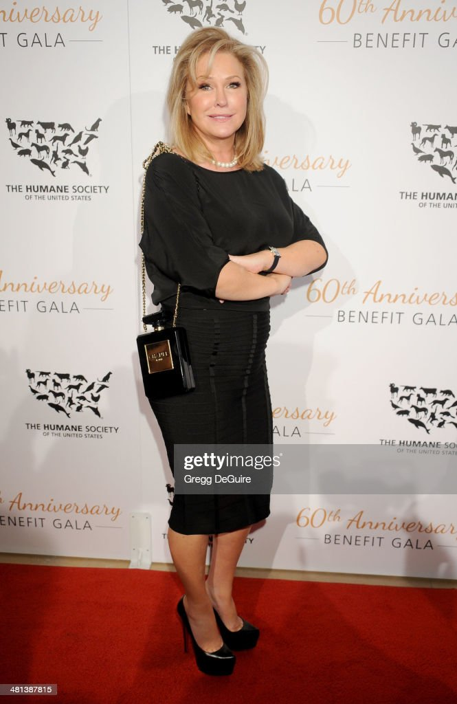 TV personality <a gi-track='captionPersonalityLinkClicked' href=/galleries/search?phrase=Kathy+Hilton&family=editorial&specificpeople=209306 ng-click='$event.stopPropagation()'>Kathy Hilton</a> arrives at The Humane Society Of The United States 60th anniversary benefit gala at The Beverly Hilton Hotel on March 29, 2014 in Beverly Hills, California.