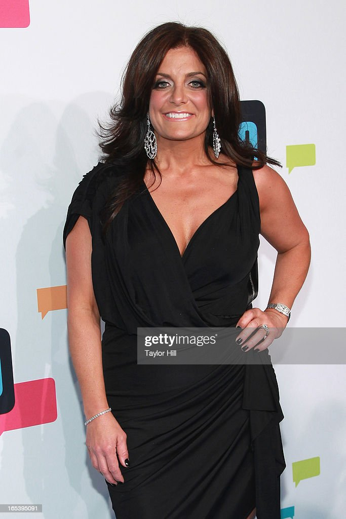 TV personality Kathy Wakile of 'The Real Housewives of New Jersey' attends the 2013 Bravo Upfront at Pillars 37 Studios on April 3, 2013 in New York City.