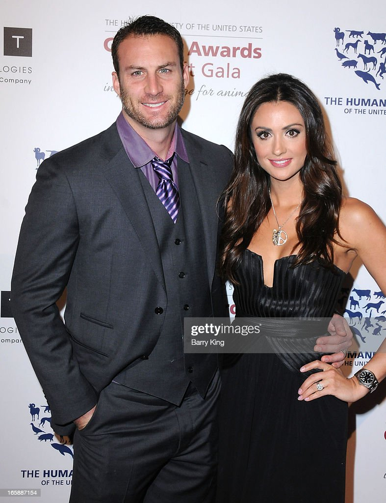 TV personality <a gi-track='captionPersonalityLinkClicked' href=/galleries/search?phrase=Katie+Cleary&family=editorial&specificpeople=583482 ng-click='$event.stopPropagation()'>Katie Cleary</a> (R) and Andrew Stern attend The Humane Society's 2013 Genesis Awards benefit gala at the Beverly Hilton Hotel on March 23, 2013 in Beverly Hills, California.