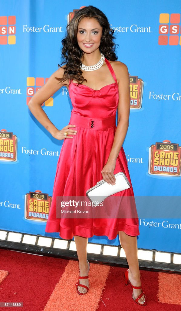 TV personality Katie Cleary arrives at the GSN's 1st Annual Game Show Awards at the Wilshire Theatre Beverly Hills on May 16, 2009 in Beverly Hills, California.