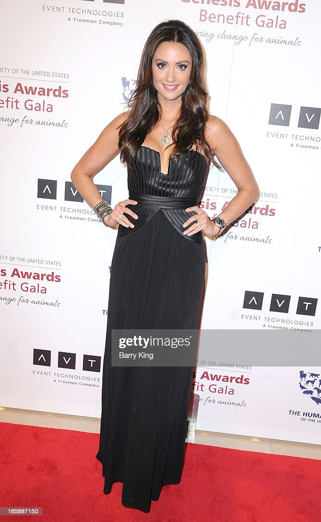 TV personality <a gi-track='captionPersonalityLinkClicked' href=/galleries/search?phrase=Katie+Cleary&family=editorial&specificpeople=583482 ng-click='$event.stopPropagation()'>Katie Cleary</a> attends The Humane Society's 2013 Genesis Awards benefit gala at the Beverly Hilton Hotel on March 23, 2013 in Beverly Hills, California.