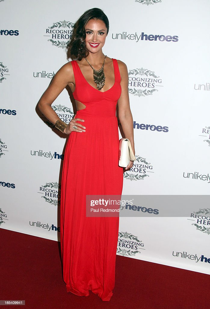 TV personality <a gi-track='captionPersonalityLinkClicked' href=/galleries/search?phrase=Katie+Cleary&family=editorial&specificpeople=583482 ng-click='$event.stopPropagation()'>Katie Cleary</a> attends 'Unlikely Heroes' Recognizing Heroes Awards Dinner and Gala at The Living Room at The W Hotel on October 19, 2013 in Los Angeles, California.