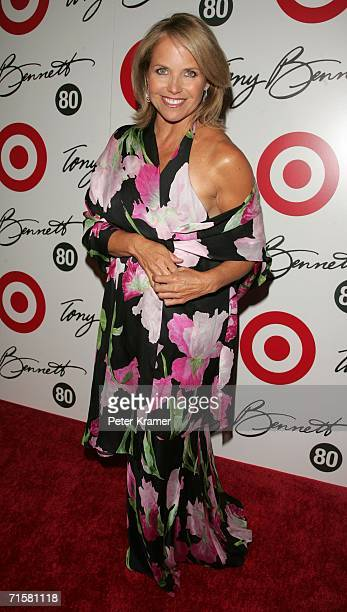 Personality Katie Couric attends Tony Bennett's 80th birthday celebration hosted by Target at The Museum of Natural History on August 3 2006 in New...