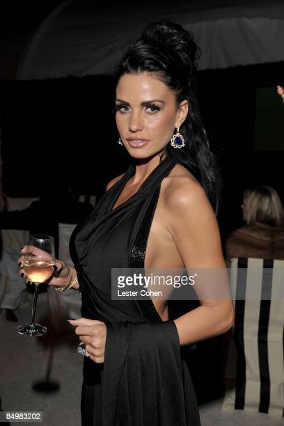 WEST HOLLYWOOD CA FEBRUARY 22 TV Personality Katie Price attends the 17th Annual Elton John AIDS Foundation Oscar party held at the Pacific Design...