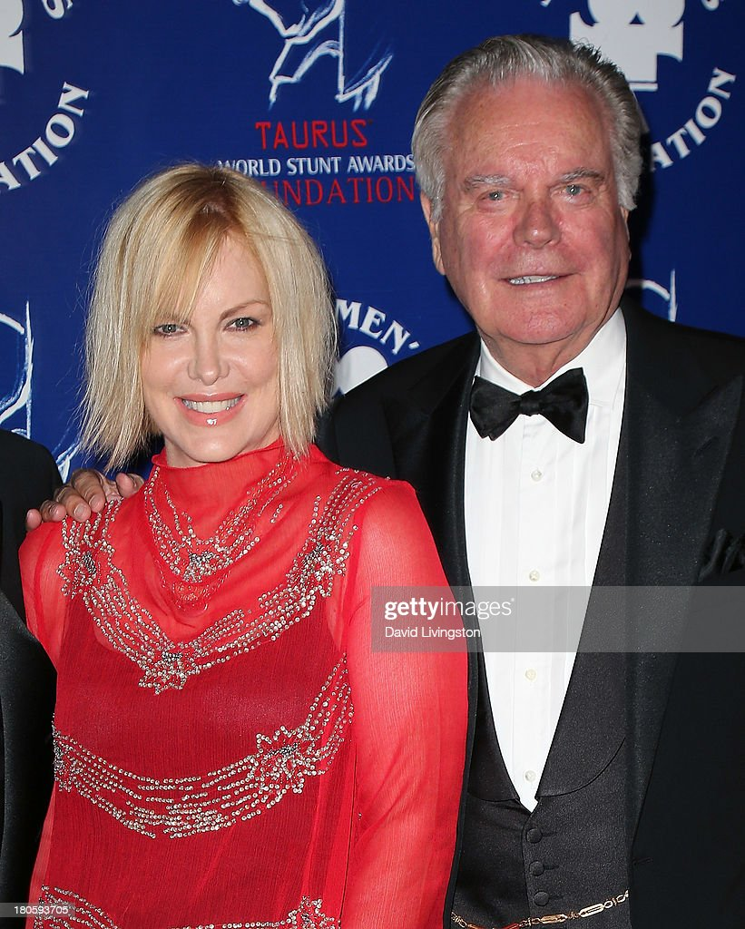 TV personality <a gi-track='captionPersonalityLinkClicked' href=/galleries/search?phrase=Katie+Wagner&family=editorial&specificpeople=234446 ng-click='$event.stopPropagation()'>Katie Wagner</a> (L) and father actor Robert Wagner attend the Stuntmen's Association of Motion Pictures 52nd Annual Awards Dinner to benefit the Taurus World Stunt Awards Foundation at the Hilton Universal City on September 14, 2013 in Universal City, California.
