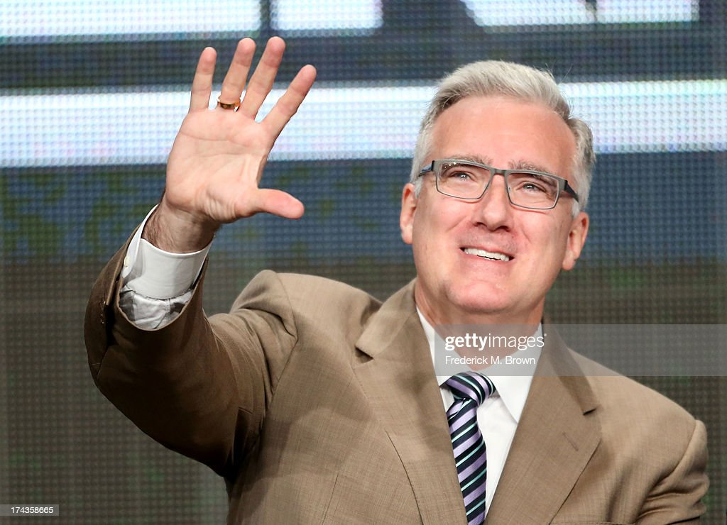 TV Personality <a gi-track='captionPersonalityLinkClicked' href=/galleries/search?phrase=Keith+Olbermann&family=editorial&specificpeople=757842 ng-click='$event.stopPropagation()'>Keith Olbermann</a> speaks onstage during the Olbermann panel at the ESPN portion of the 2013 Summer Television Critics Association tour at the Beverly Hilton Hotel on July 24, 2013 in Beverly Hills, California.