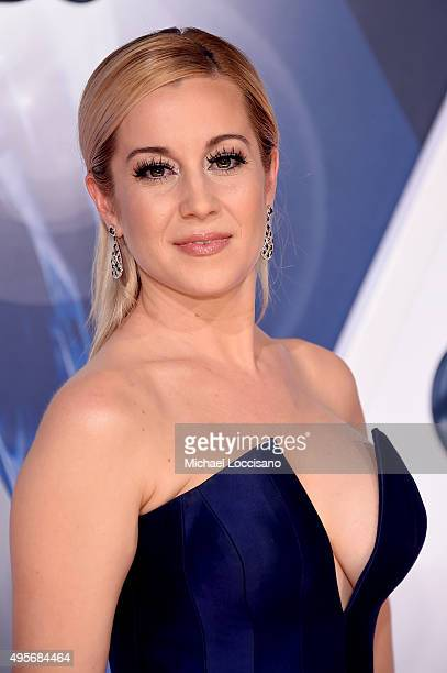 TV personality Kellie Pickler attends the 49th annual CMA Awards at the Bridgestone Arena on November 4 2015 in Nashville Tennessee