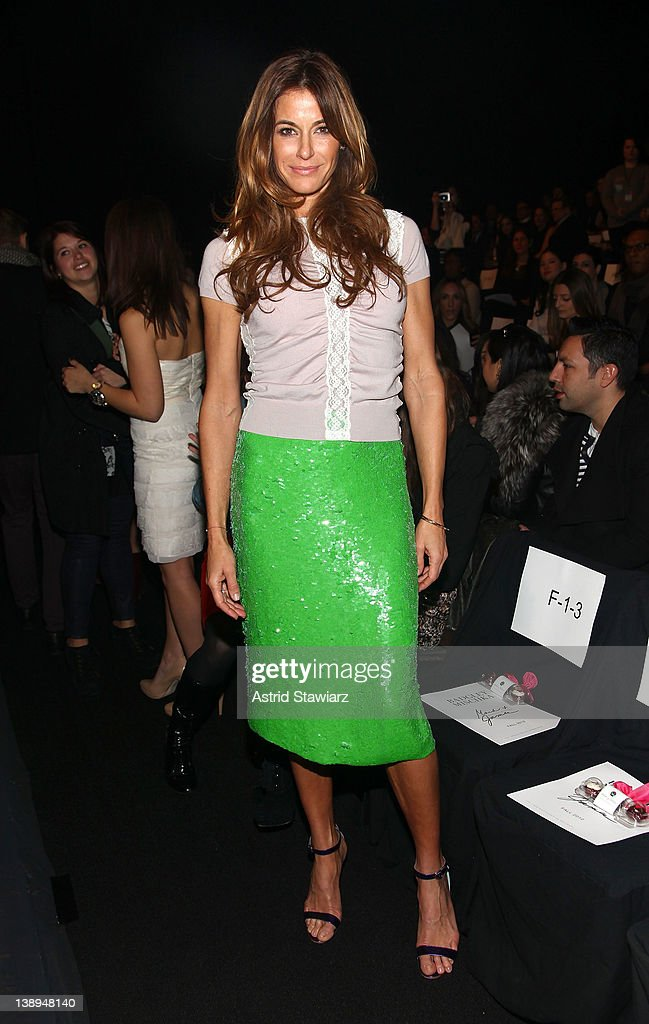 TV personality Kelly Bensimon attends the Badgley Mischka Fall 2012 fashion show during Mercedes-Benz Fashion Week at The Theatre at Lincoln Center on February 14, 2012 in New York City.