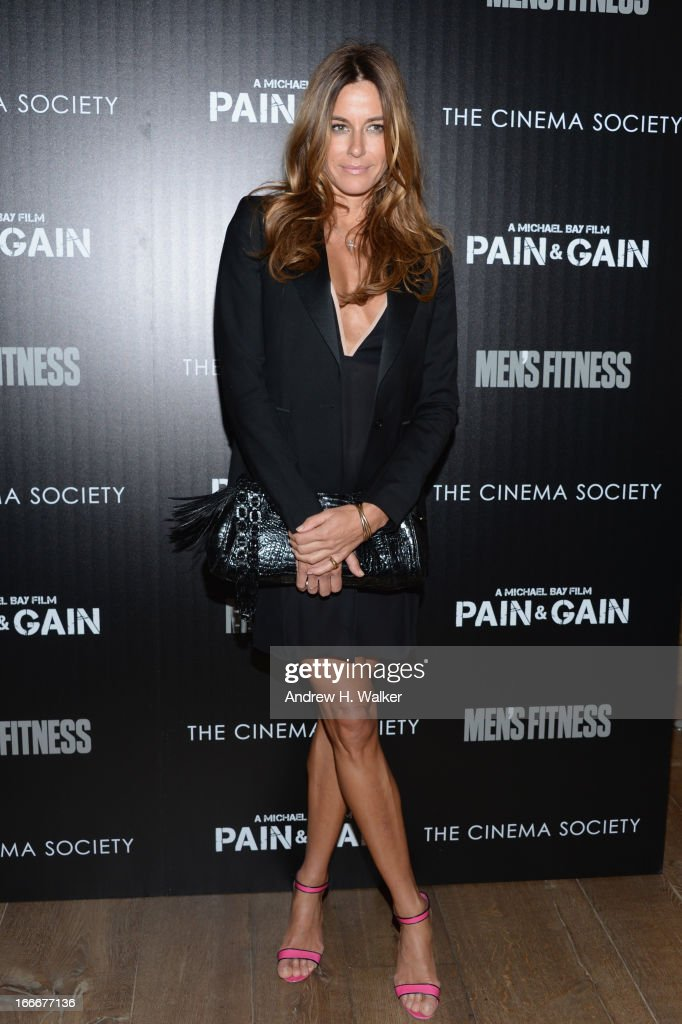 TV personality Kelly Bensimon attends the Cinema Society screening of 'Pain And Gain' at Crosby Street Hotel on April 15, 2013 in New York City.